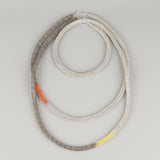 long Statement Necklace , Gray and Neon - Yooladesign