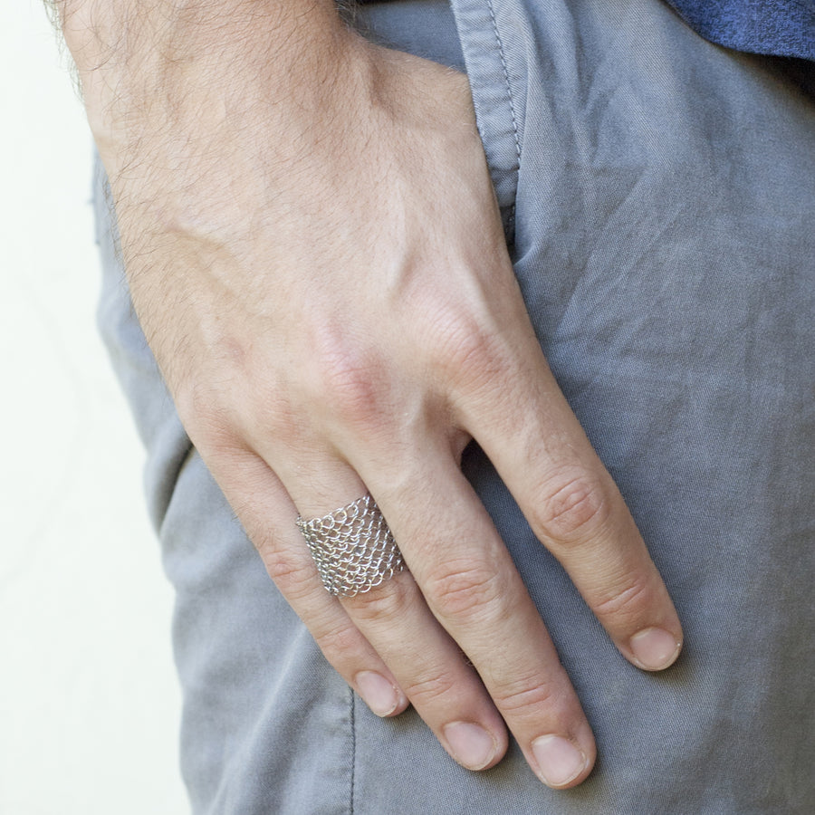 Men's mesh Ring - Yooladesign