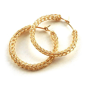 Gold hoop earrings , medium hoops - Yooladesign