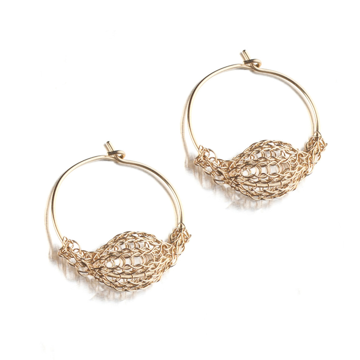 SMALL Gold Hoop Earrings - Yooladesign