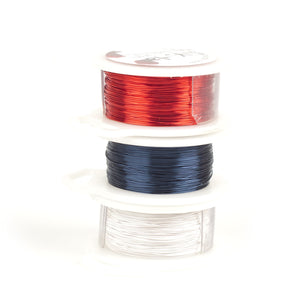 Craft Wire - NAUTICAL colors - 3 Extra long spools - 120 feet each - Yooladesign