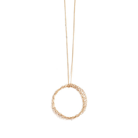 Karma necklace - Circle necklace - Wish necklace- O circle necklace in gold or silver - Minimalist jewelry - Yooladesign