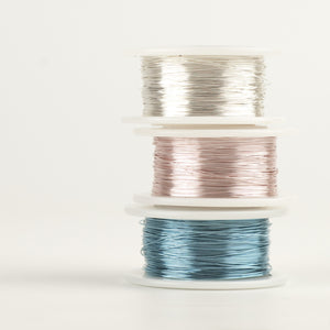 Craft Wire - Pastel colors 3 Extra long spools - 120 feet each - Yooladesign