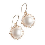 Large PEARL earrings - Drop pearl earrings - Yooladesign