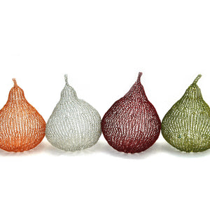 How to crochet decorative wire pears , PDF crochet patterns - Yooladesign