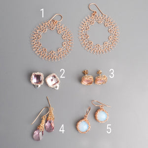Rose and pink Earrings - Sample sale - yooladesign