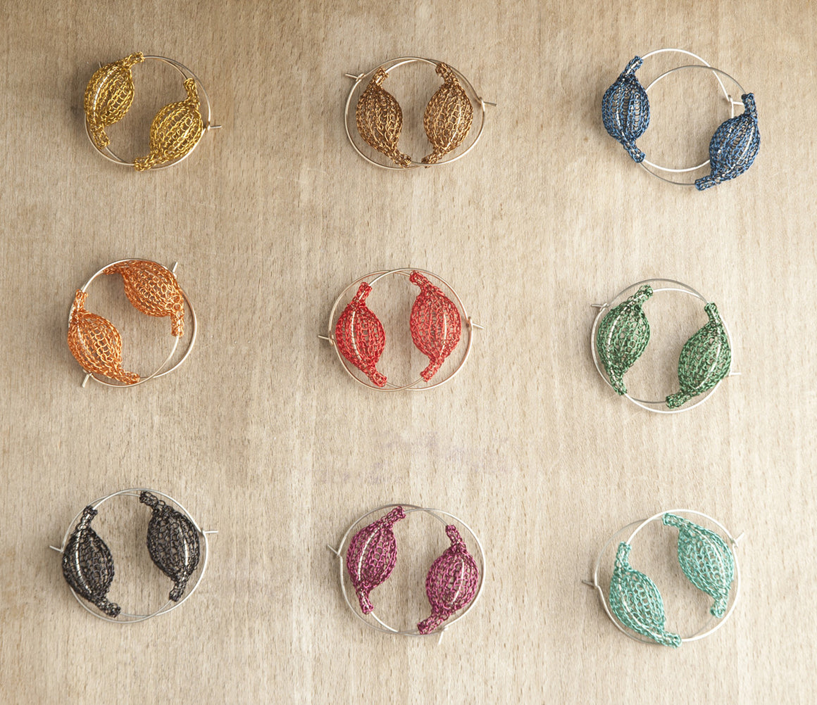 Hoop Earrings - Pick your color - Yooladesign