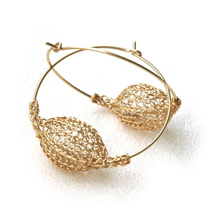 Gold Hoop Earrings - Yooladesign