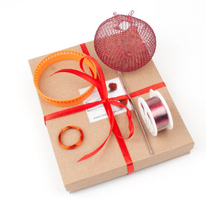 How to wire crochet a pomegranate , video tutorial , supply and tools - Yooladesign