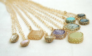 Bridesmaids Special - Set of Stone Embedded Necklaces - Yooladesign