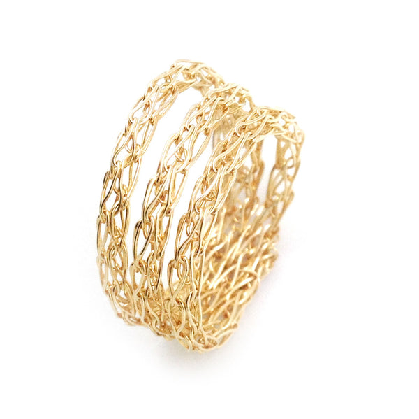 Stacking ring , custom made wire crocheted ring - Yooladesign
