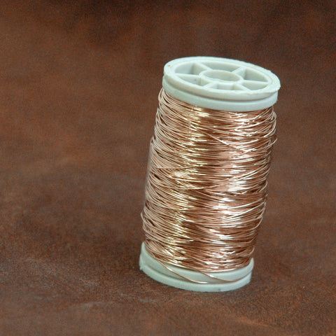 Rose Gold filled wire , dead soft rose gold filled wire, 28gauge , wire crochet supplies, gold wire, 80ft 26 yard - Yooladesign