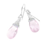 Light rose Crystal Earrings, silver dangle Swarovski earrings - Yooladesign
