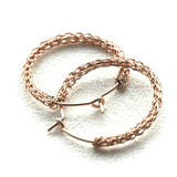 Rose Gold hoop earrings , medium hoops - Yooladesign
