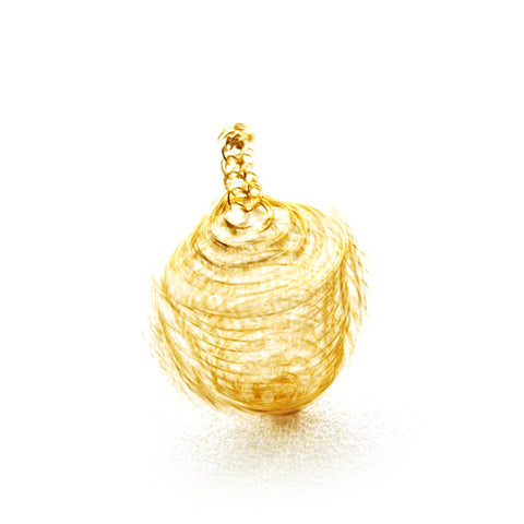 Wire Crochet Spinning Top, Golden Dreidel - Yooladesign