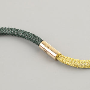 Gold tube Magnet Clasp for wire crochet necklaces - Yooladesign