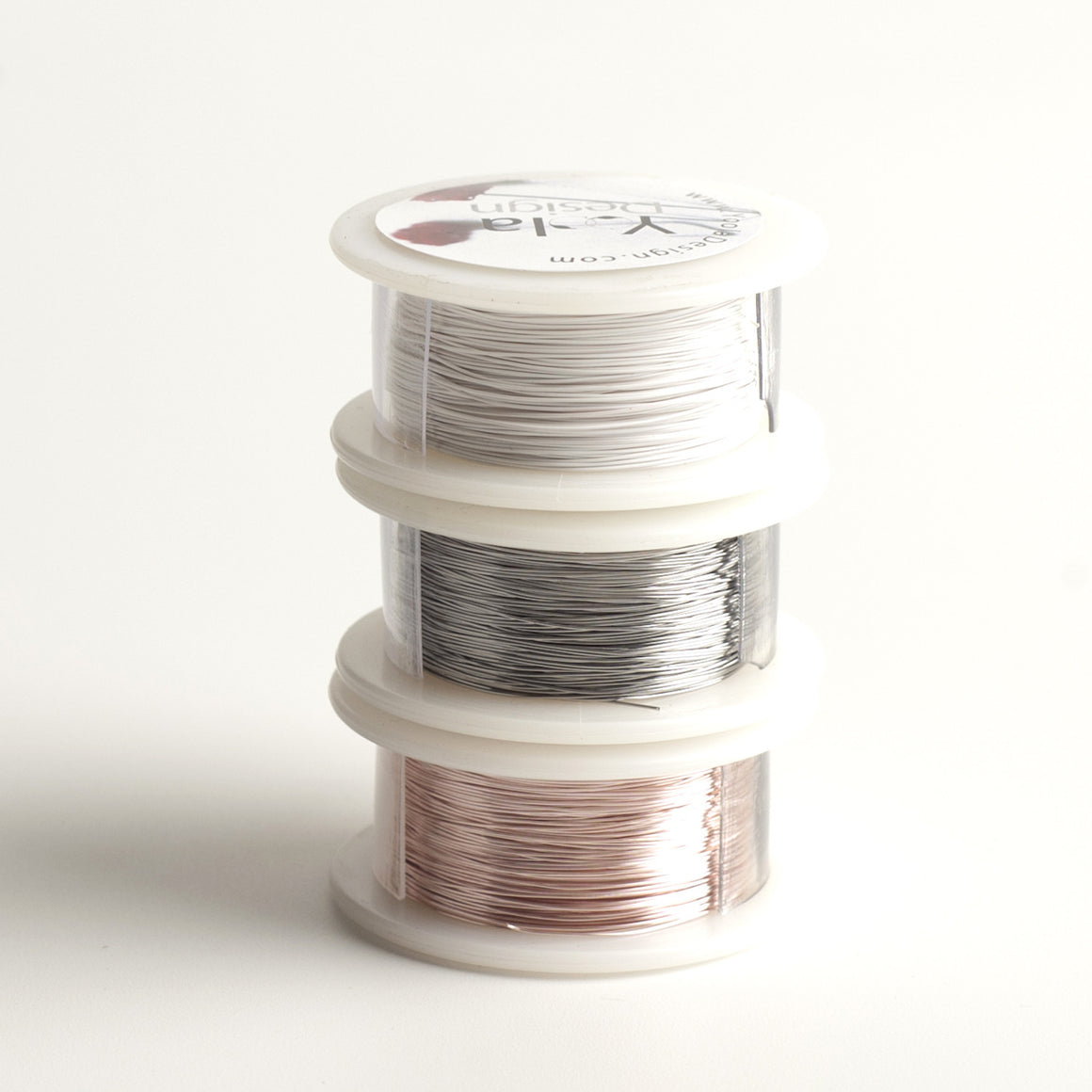 NEW Craft Wire - White, Steel, Rose Gold - 3 Extra long wire spools - 360 feet total - Yooladesign