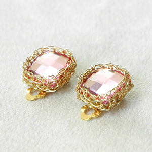 BridesMaids Swarovski Crystal Clip on Earrings - Yooladesign