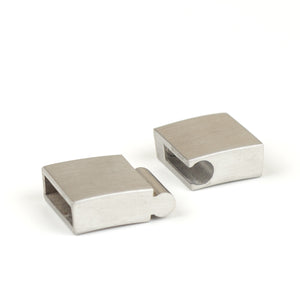 Stainless steel slide clasp for wire crochet jewelry - Yooladesign
