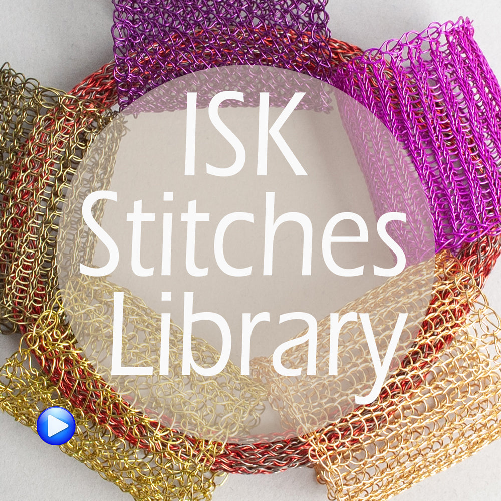 ISK stitch library - 8 wire crochet stitches