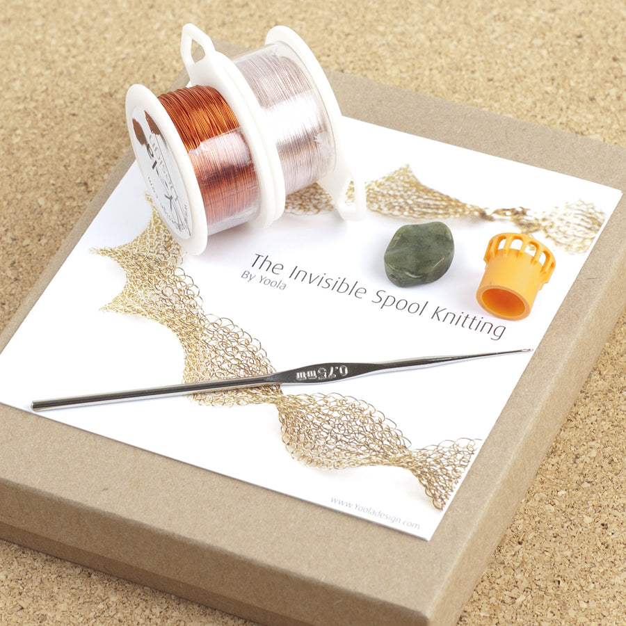 BOHO ring - Stone ring in wire crochet - DIY kit - Yooladesign