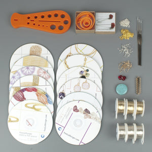 Premium Wire Crochet KIT - ALL in one Jewelry Making kit - Ultimate gift for her - Yooladesign