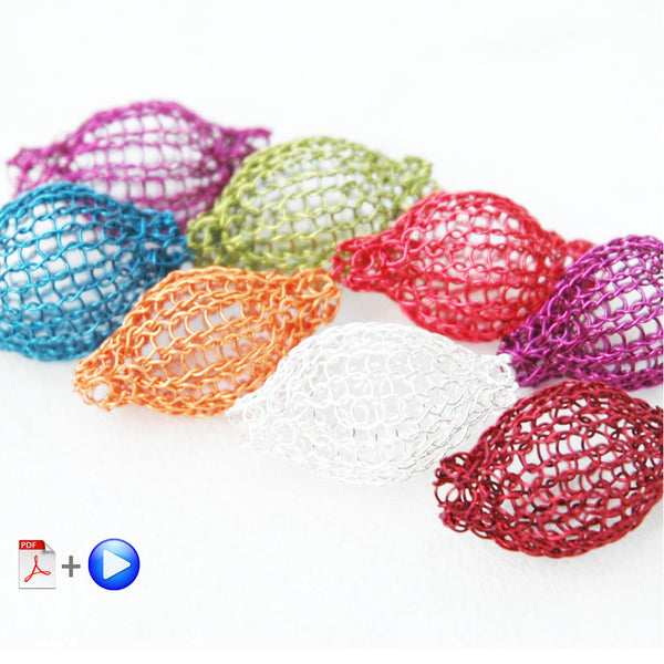 How to crochet bubble beads , volume wire beads video tutorial