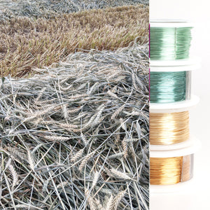Jewelry making wire - Garden inspiration - wheat - 4 spools - yooladesign