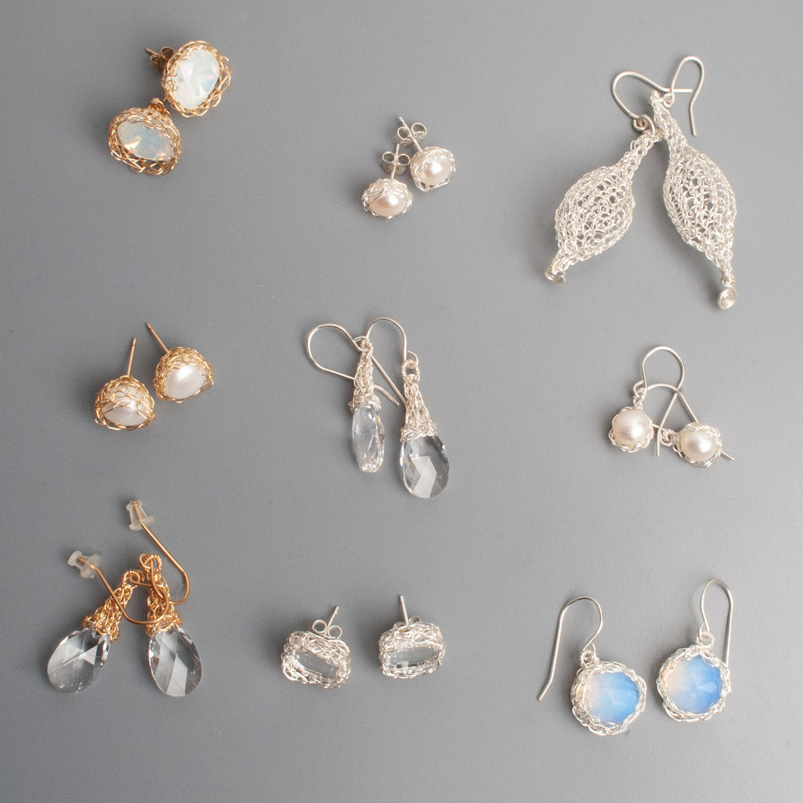 White Earrings - Sample sale - yooladesign