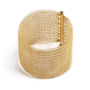 Wide Gold Magnet Clasp for wire crochet bracelet - Yooladesign
