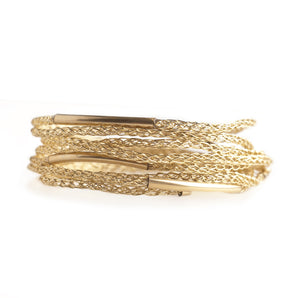 BOHO Wire crochet bracelet Gold wrap bracelet in gold - Yooladesign
