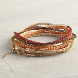 AUTUMN colors BOHO Wire crochet bracelet - Yooladesign