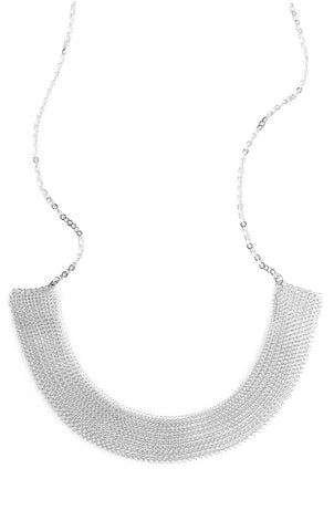 Collar statement necklace in SILVER - Yooladesign
