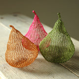 Home Deco Pears, Handmade Wire Crochet Home Accents - Yooladesign