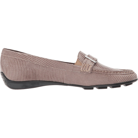 March Taupe Lizard Print Loafer