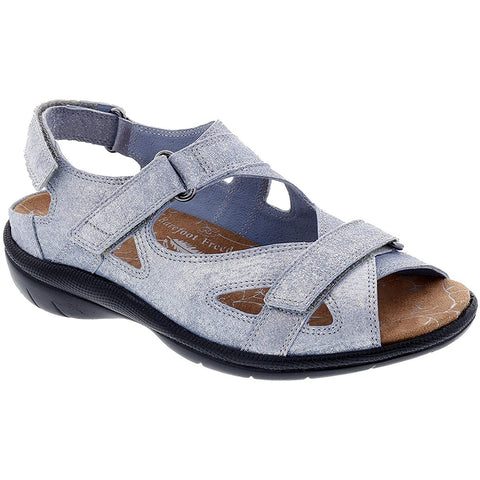 Lagoon Denim Dusty Sandals