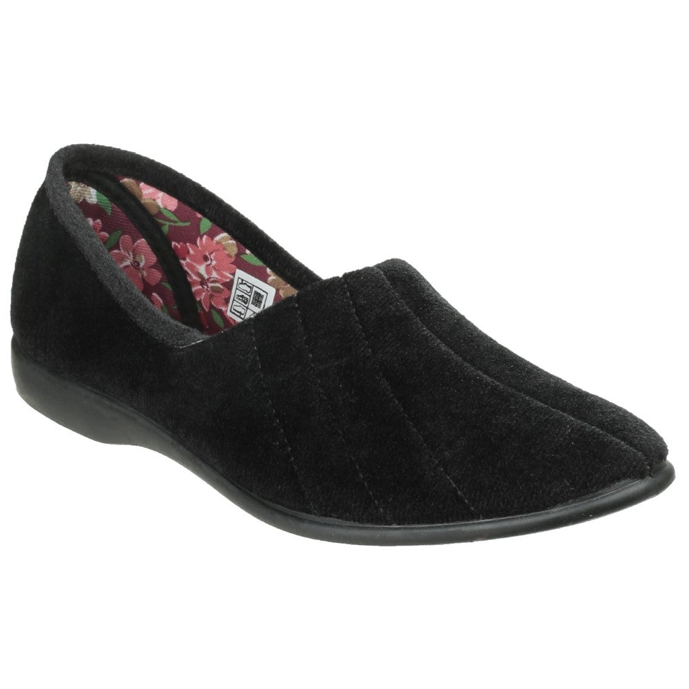 Audrey  Black Memory Slippers