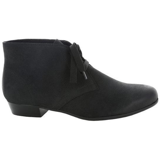 Sloane Black Leather Ankle Boots