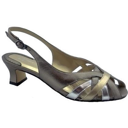 Pearl Metallic Slingbacks