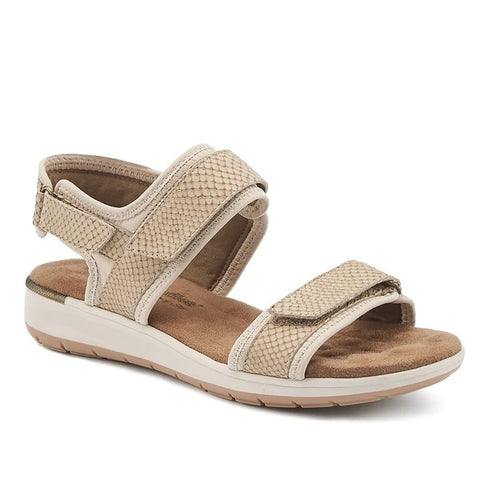 Shea Light Taupe Snake Print Sandals