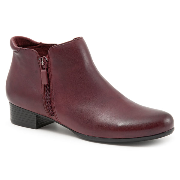 Major Dark Red Ankle Boots