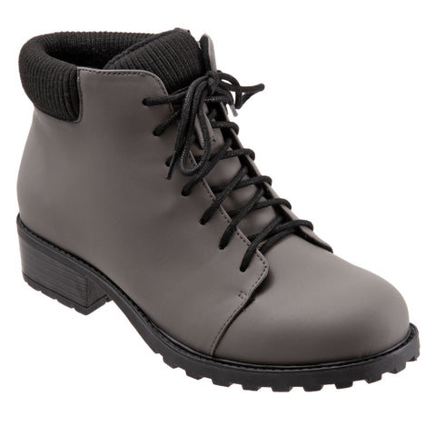Becky Low Grey Ankle Boots