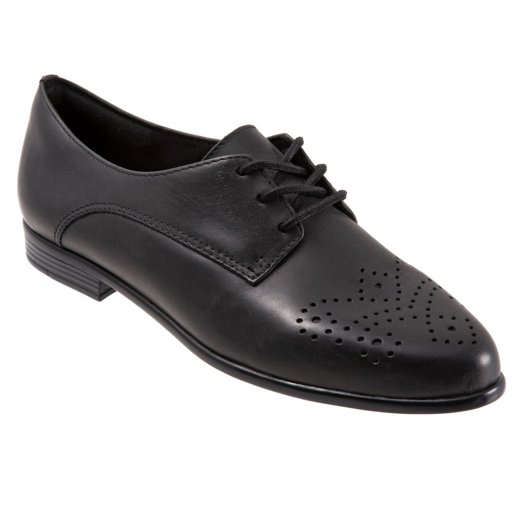Livvy Black Leather Oxford Shoes