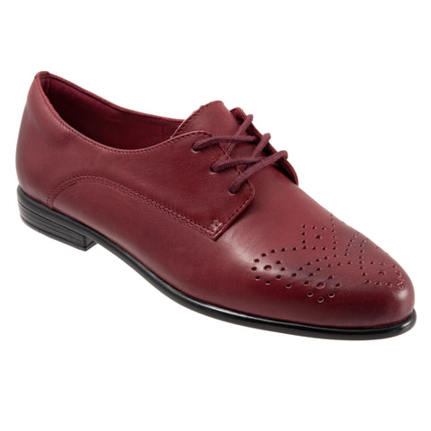 Livvy Dark Red Oxford Shoes