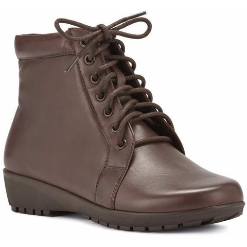 Ziggy Brown Leather Ankle Boots