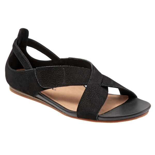 Camilla Black Nubuck Sandals