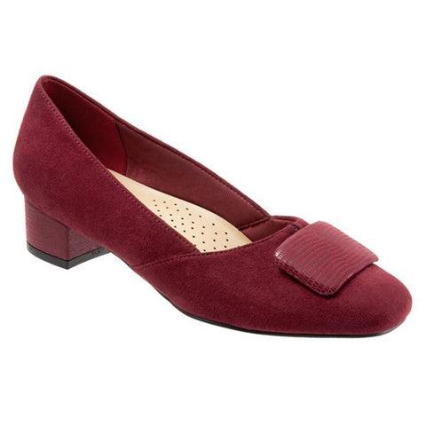Delse Dark Red  Micro Suede
