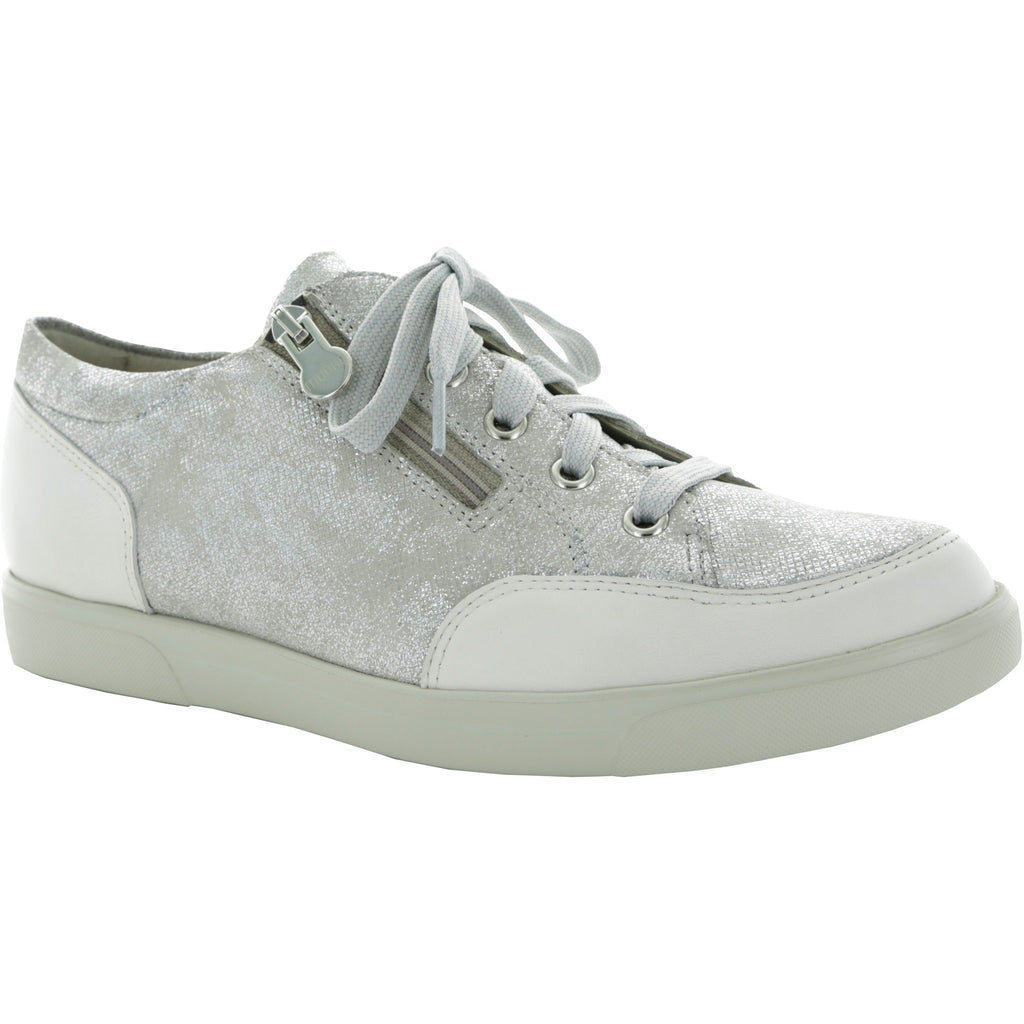 Gabbie White Metalic Print  Sports Shoe