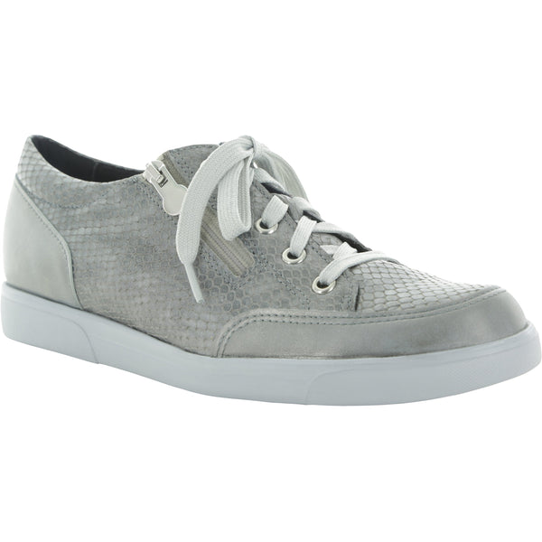 Gabbie Light Grey Kid Leather Sport Shoes
