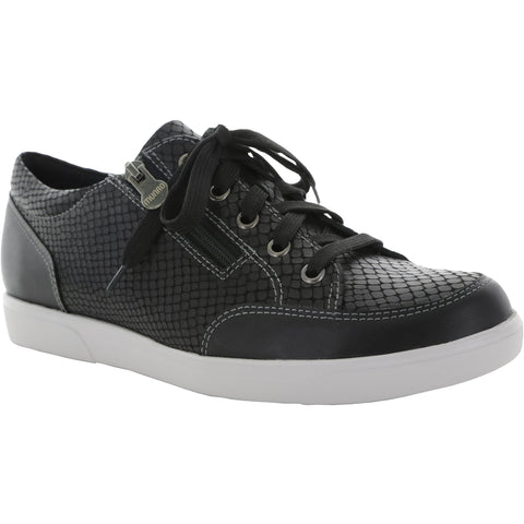 Gabbie Black Snakeskin Sports Shoe